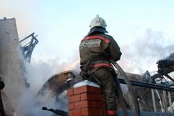 Спасатели МЧС России ликвидировали пожар в частном жилом доме в Новокузнецком городском округе