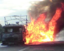 Спасатели МЧС России ликвидировали пожар в частном грузовом автомобиле в Гурьевском МО