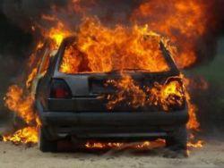 Спасатели МЧС России ликвидировали пожар в частном легковом автомобиле в Яйском МО