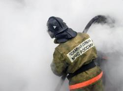 Спасатели МЧС России ликвидировали пожар в частном жилом доме в Гурьевском МО