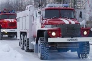 Спасатели МЧС России ликвидировали пожар в нежилом здании в Кемеровском ГО