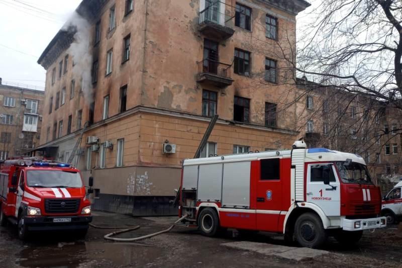 Сотрудники МЧС России спасли на пожаре в Новокузнецке 45 человек
