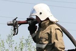 Спасатели МЧС России ликвидировали пожар в частных гаражах в Тайгинском ГО