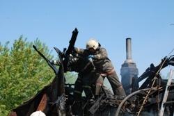Спасатели МЧС России ликвидировали пожар в частной хозяйственной постройке в п.г.т. Яшкино
